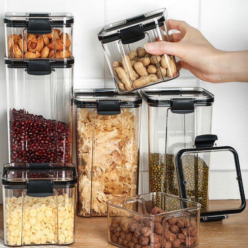 AliExpress Boîte de rangement pour aliments secs, conteneurs alimentaires transparents empilables cuisine