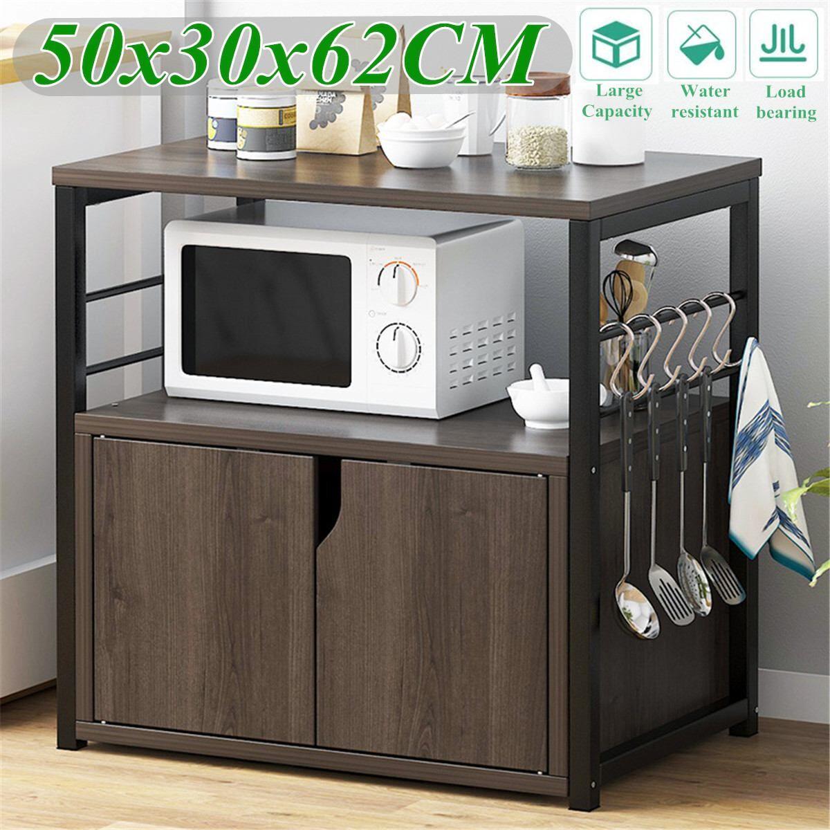 AliExpress 2 niveaux en bois cuisine four à micro-ondes étagère avec armoire étagère fer Art ustensiles de