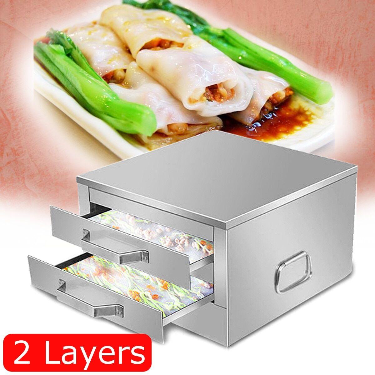 AliExpress Rouleau de riz et nouilles en acier inoxydable, 2/1 couches, Machine à vapeur pour petit pain,