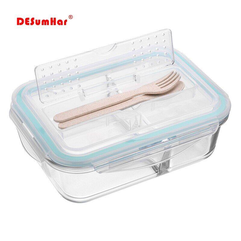 AliExpress Boîte à déjeuner de style coréen, boîte à Bento en verre pour micro-ondes boîte de rangement des