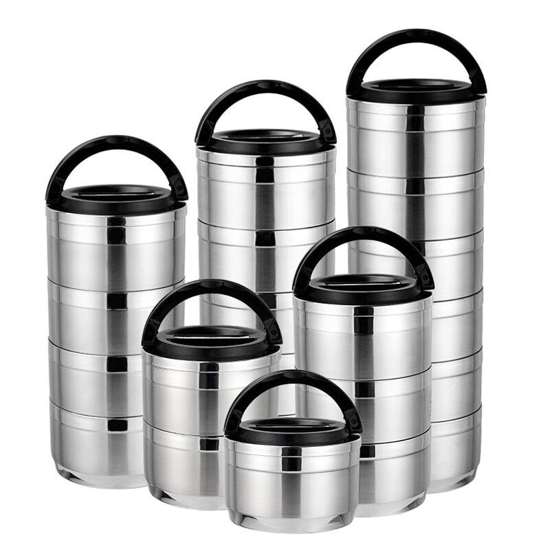 AliExpress Boîte à Bento Portable pour employé de bureau, boîte de pique-nique en acier inoxydable, isolation,