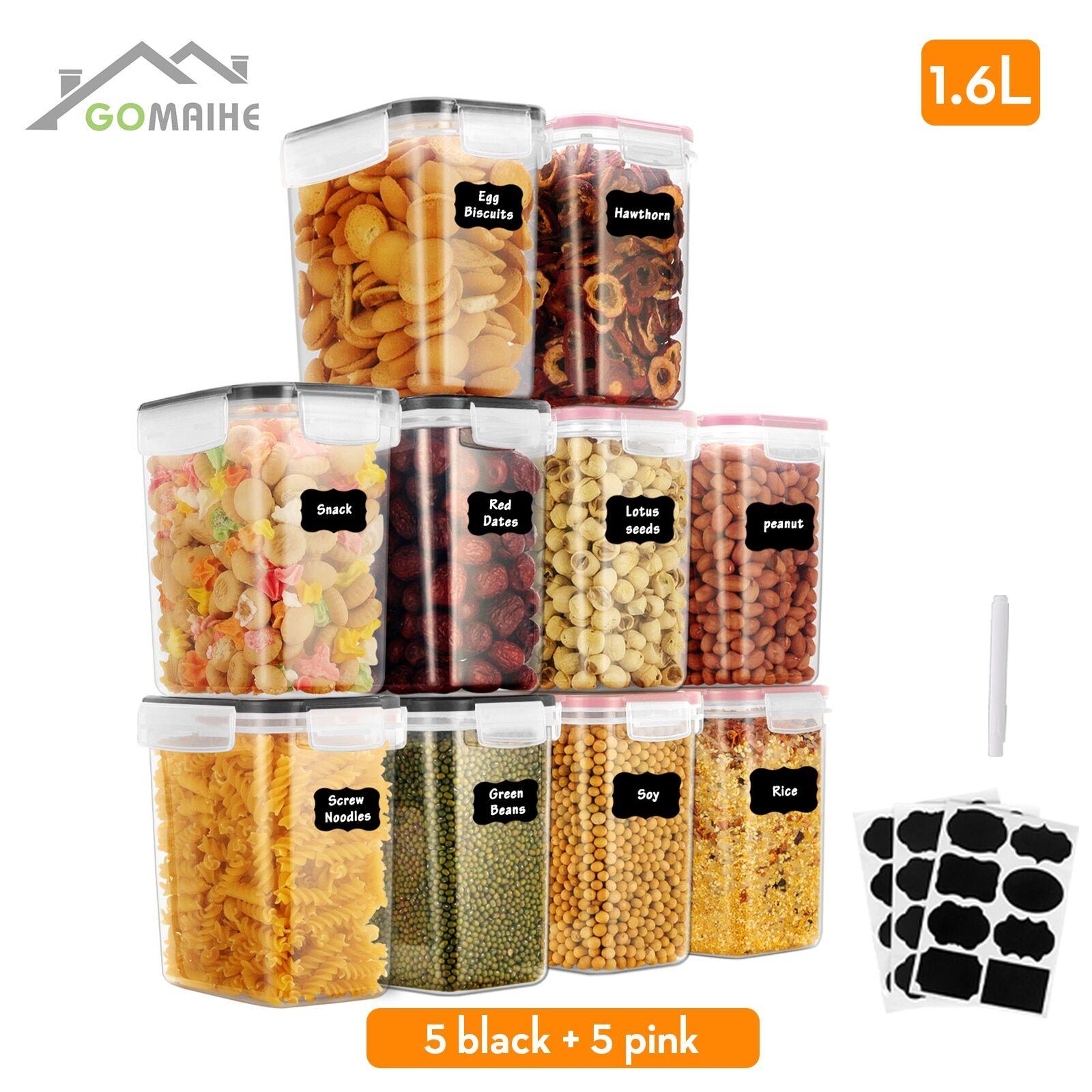 AliExpress GoMaihe8/10 pièces distributeur cereales rangement cuisine boite transparente boite alimentaire