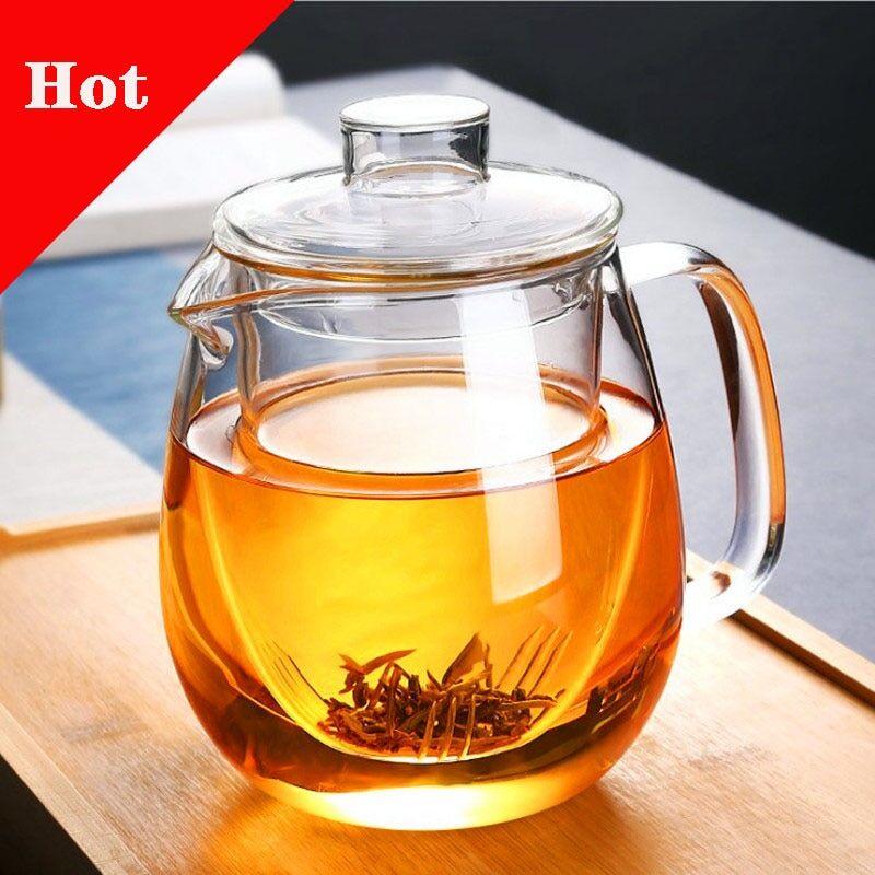 AliExpress Service à thé domestique, théière en verre pour poêle résistant à la chaleur, infuseur à thé