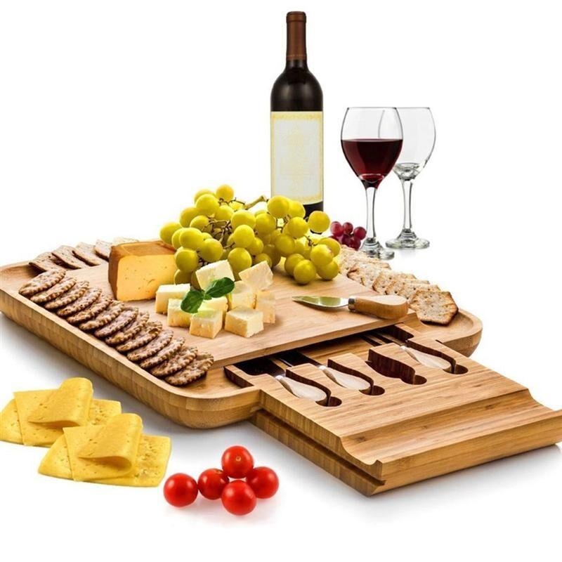 AliExpress Plateau de service, planche à découper en bambou pour fromage fruits légumes rangement de cuisine