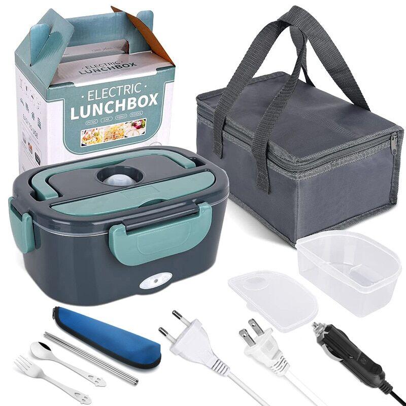 AliExpress Boîte à déjeuner électrique 2 en 1, voiture domestique, boîte à Bento chauffante en acier inoxydable