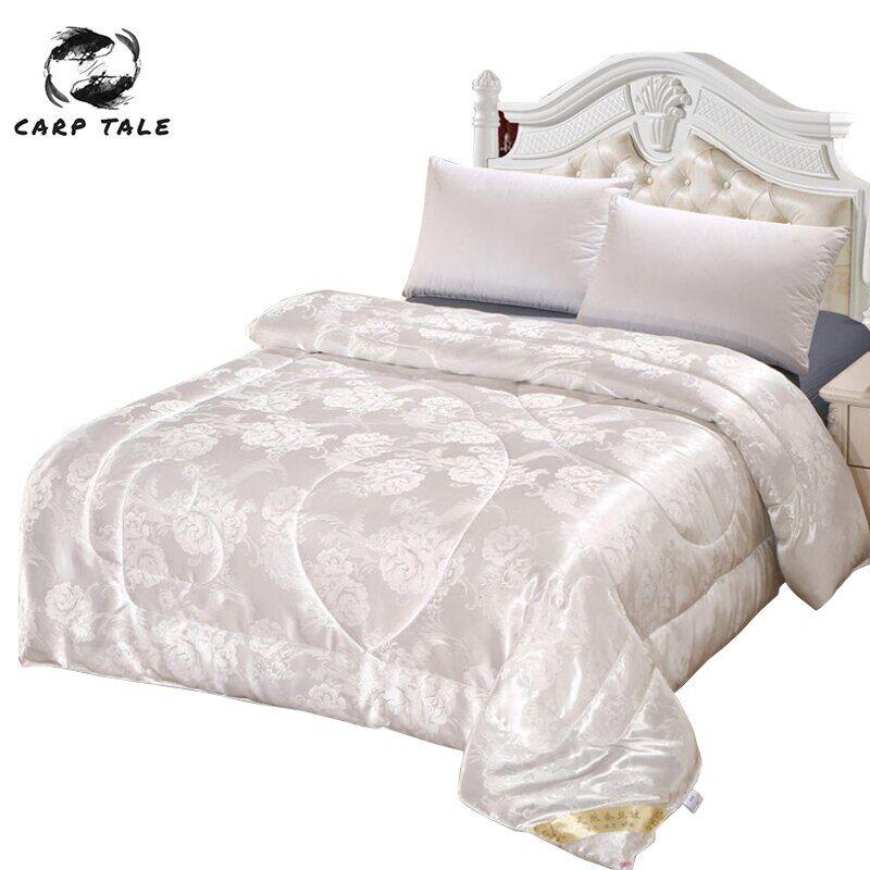 AliExpress Couette de luxe en soie Jacquard, couverture pondérée pour lit double, Queen, King Size