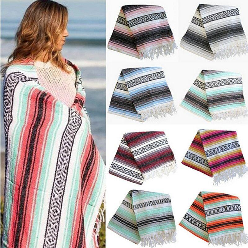 AliExpress Couverture pour tapis de Yoga tissé à la main, motif à franges géométriques, nouvelle collection