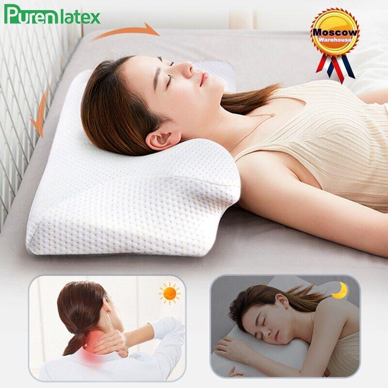 AliExpress Purenlatex – oreiller orthopédique en mousse à mémoire de forme, pour soulager les douleurs