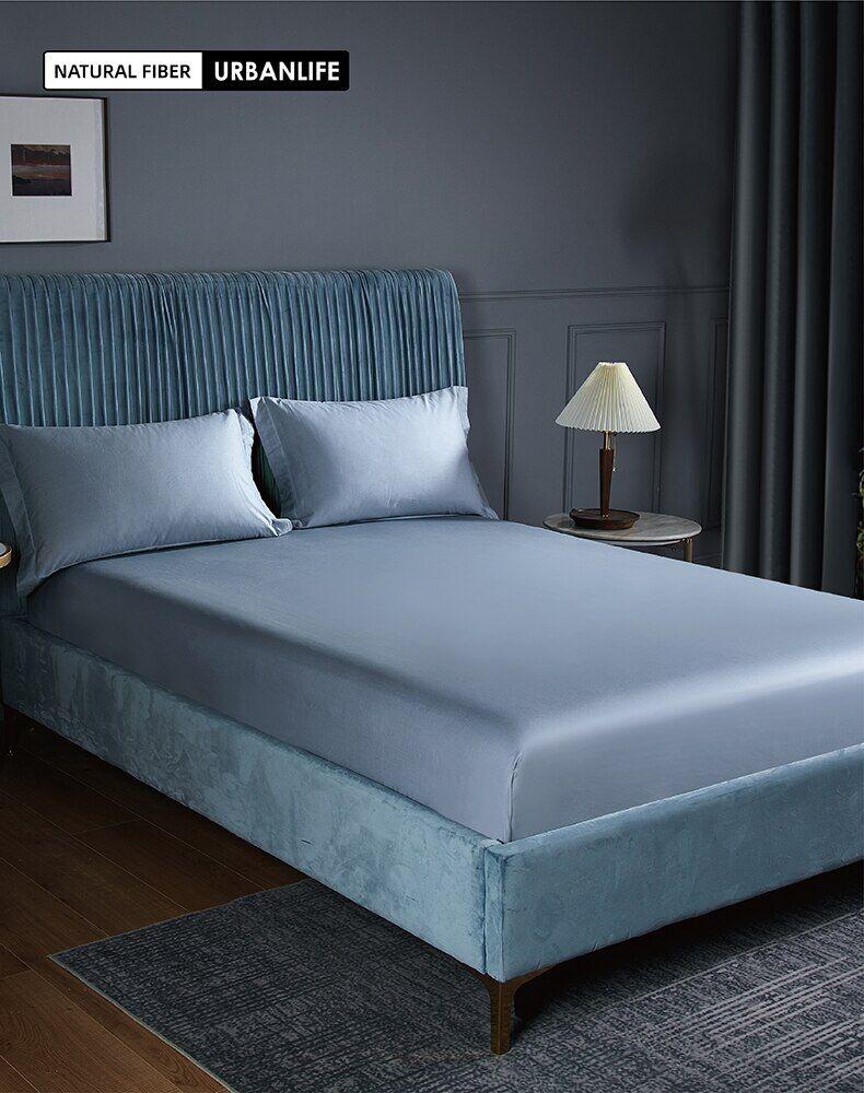 AliExpress Drap-housse 100% coton de haute qualité, 1 pièce, drap de lit simple, Double, Queen Size, King, avec