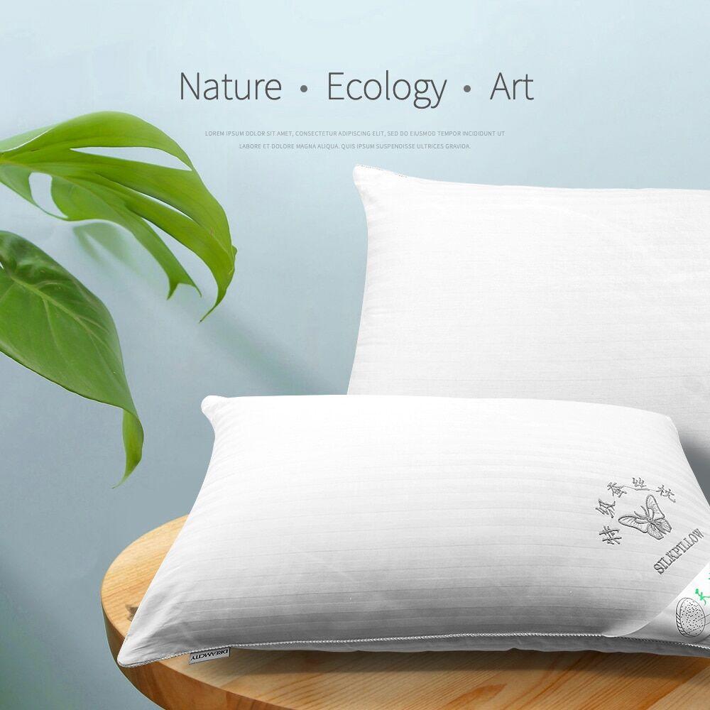 AliExpress Oreillers chinois en soie naturelle et mûre, à mémoire de forme, simple cou, dos à dos, pour bébé,