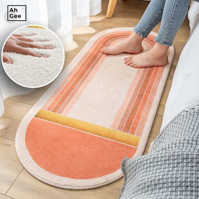AliExpress Tapis pelucheux doux pour chambre à coucher, pour enfants, tapis de bain, de chevet en peluche,