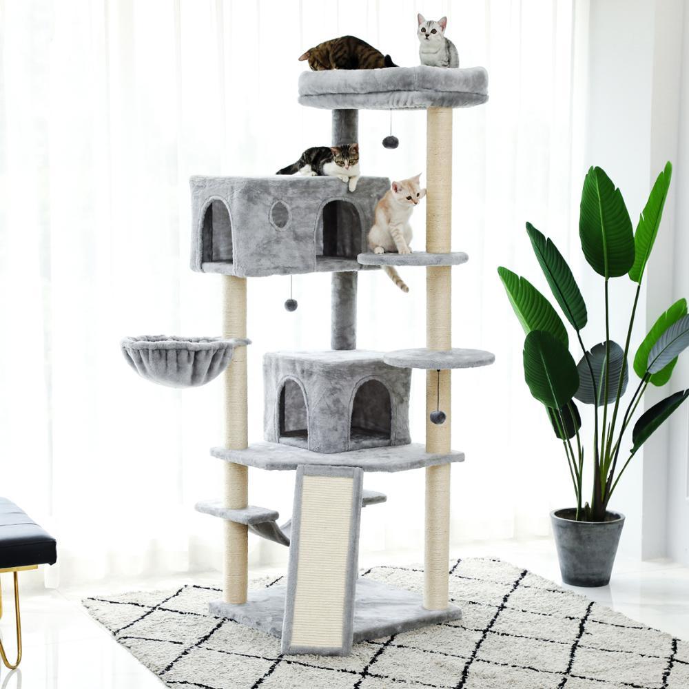AliExpress Cadre d'escalade de luxe pour chat, grand arbre à chat en Sisal résistant, aire de jeux pour