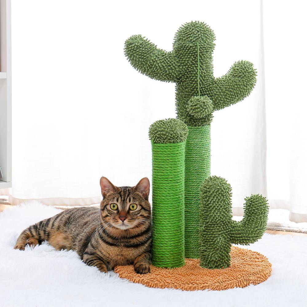 AliExpress Livraison Directe Adéquate Cactus Chat Griffoir avec Corde De Sisal Chat Scratcher Cactus pour Chats