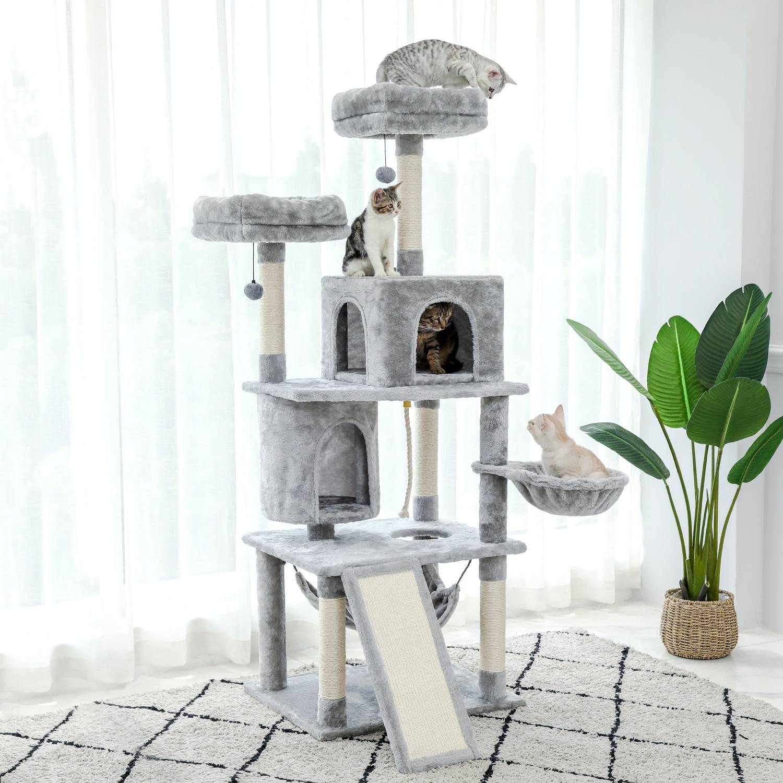 AliExpress Tour d'arbre à chat en peluche à plusieurs niveaux, maison de jeux pour chaton, Center d'activité,