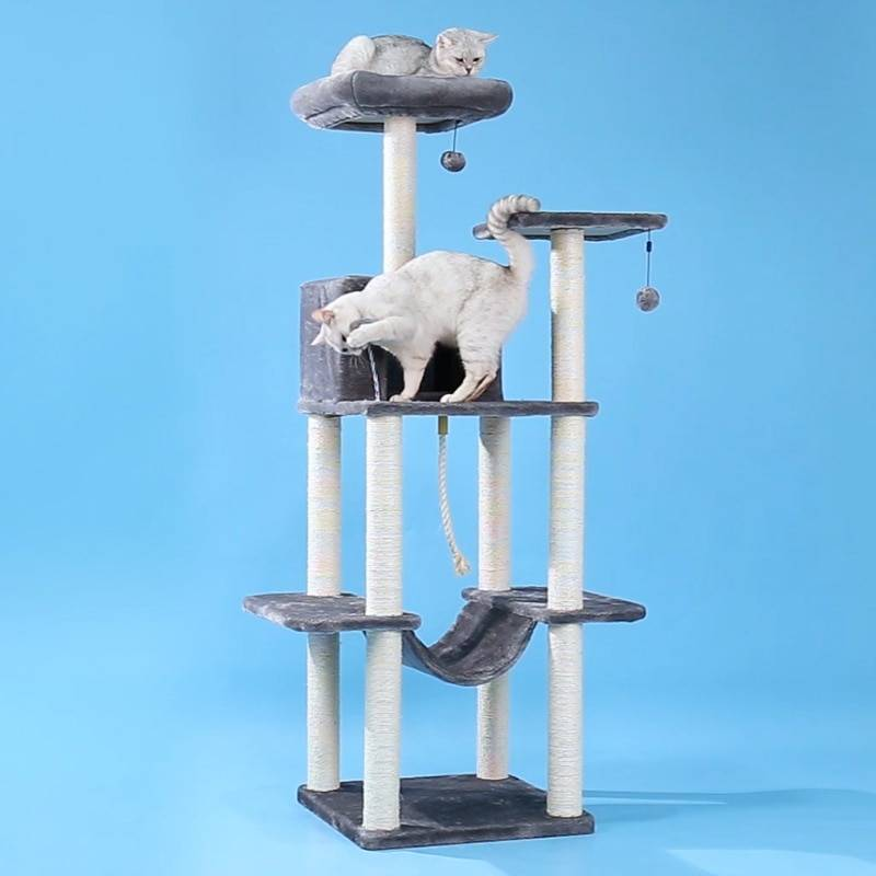 AliExpress Tour d'arbre à chat pour animaux de compagnie, meuble de luxe, plateau d'escalade, jeu d'appartement