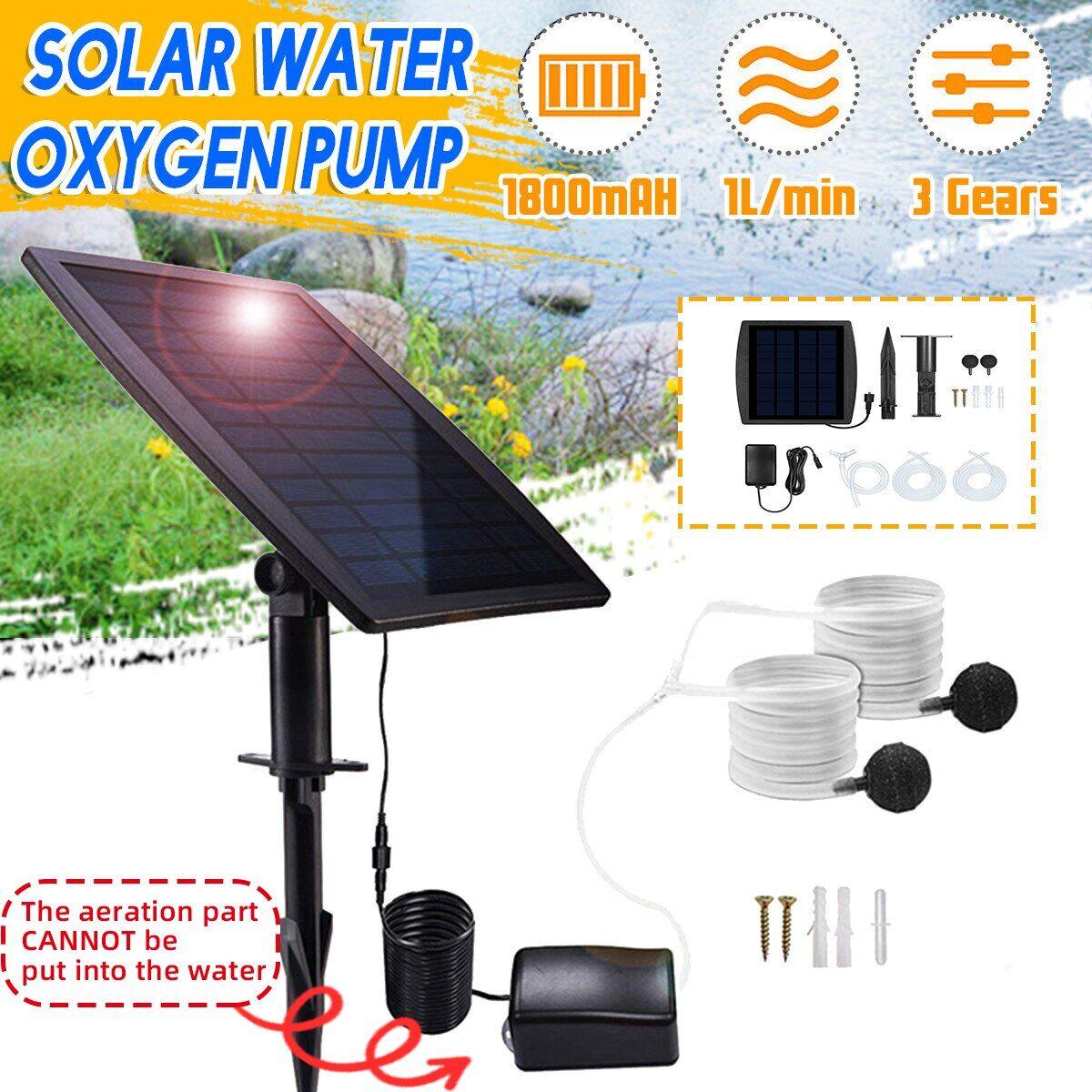 AliExpress Pompe à eau solaire sans balais, 1l/Min, 450ma, système d'oxygénation, pour extérieur, fontaine de