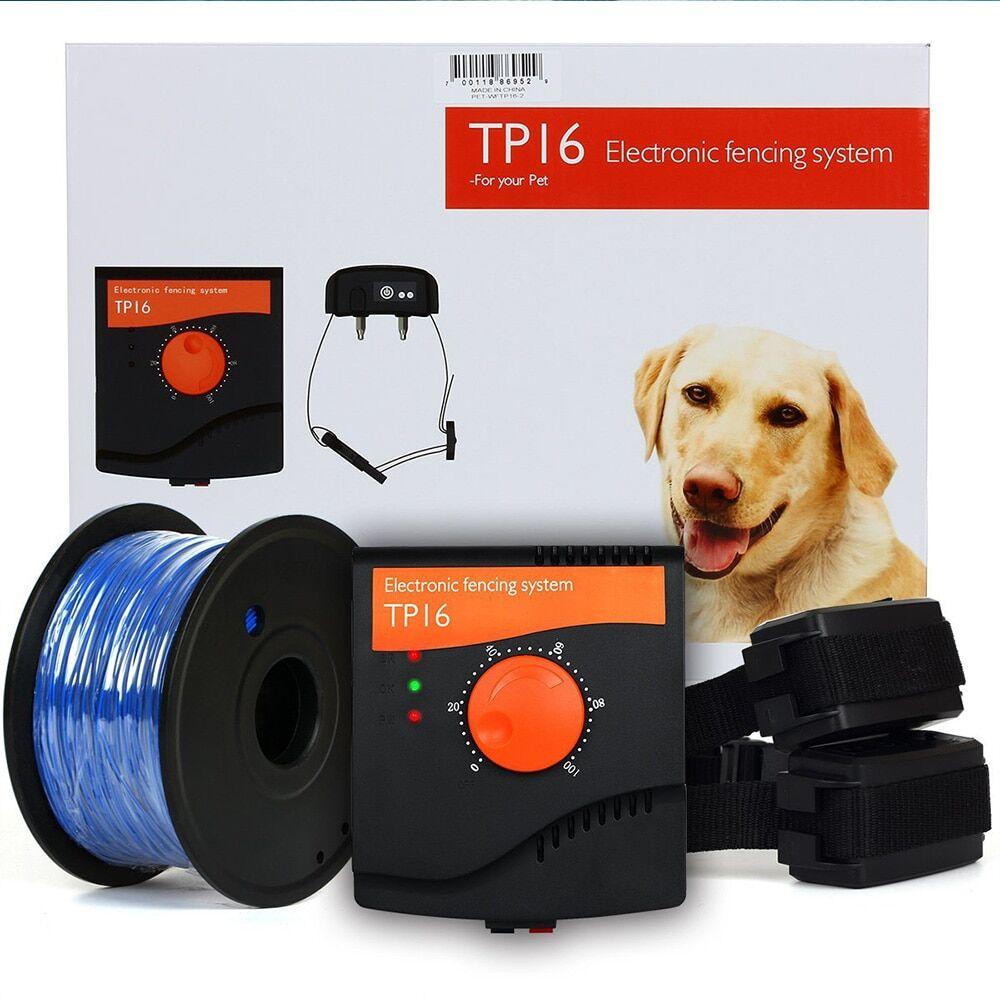 AliExpress TP16 système de clôture de chien électrique Rechargeable étanche choc réglable collier de dressage