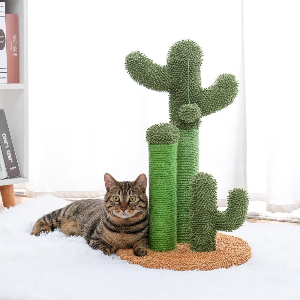 AliExpress Livraison directe chat Cactus arbre jouet maison escalade Stratching poteaux pour chat chaton drôle