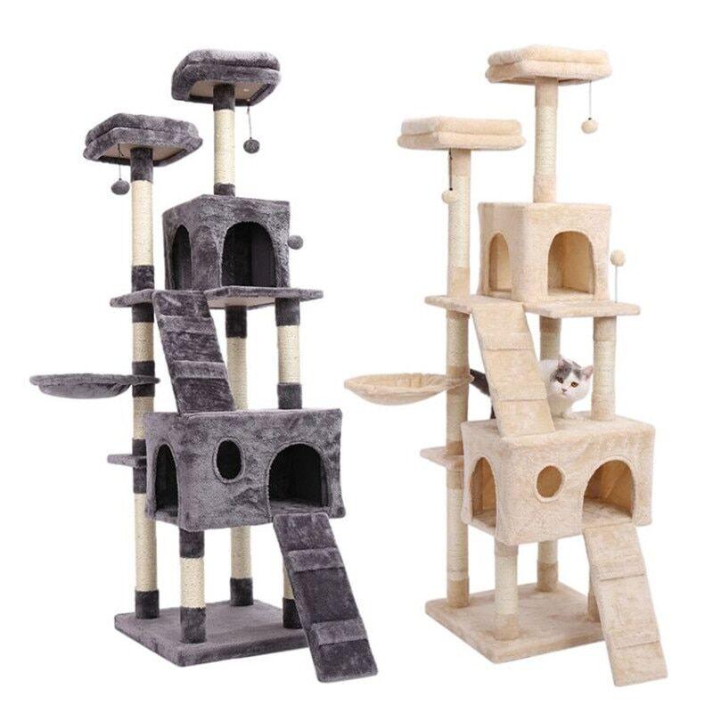 AliExpress Jouet de saut type arbre à chat, avec échelle, bois pour faire ses griffes, poste à gratter, cadre