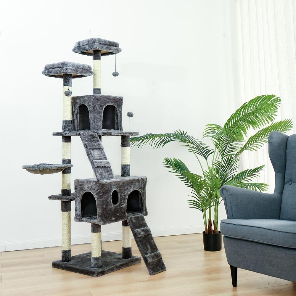 AliExpress Arbre à chat H175cm, poste à gratter pour chat, chaton, escalade, saut, meubles, maison, livraison