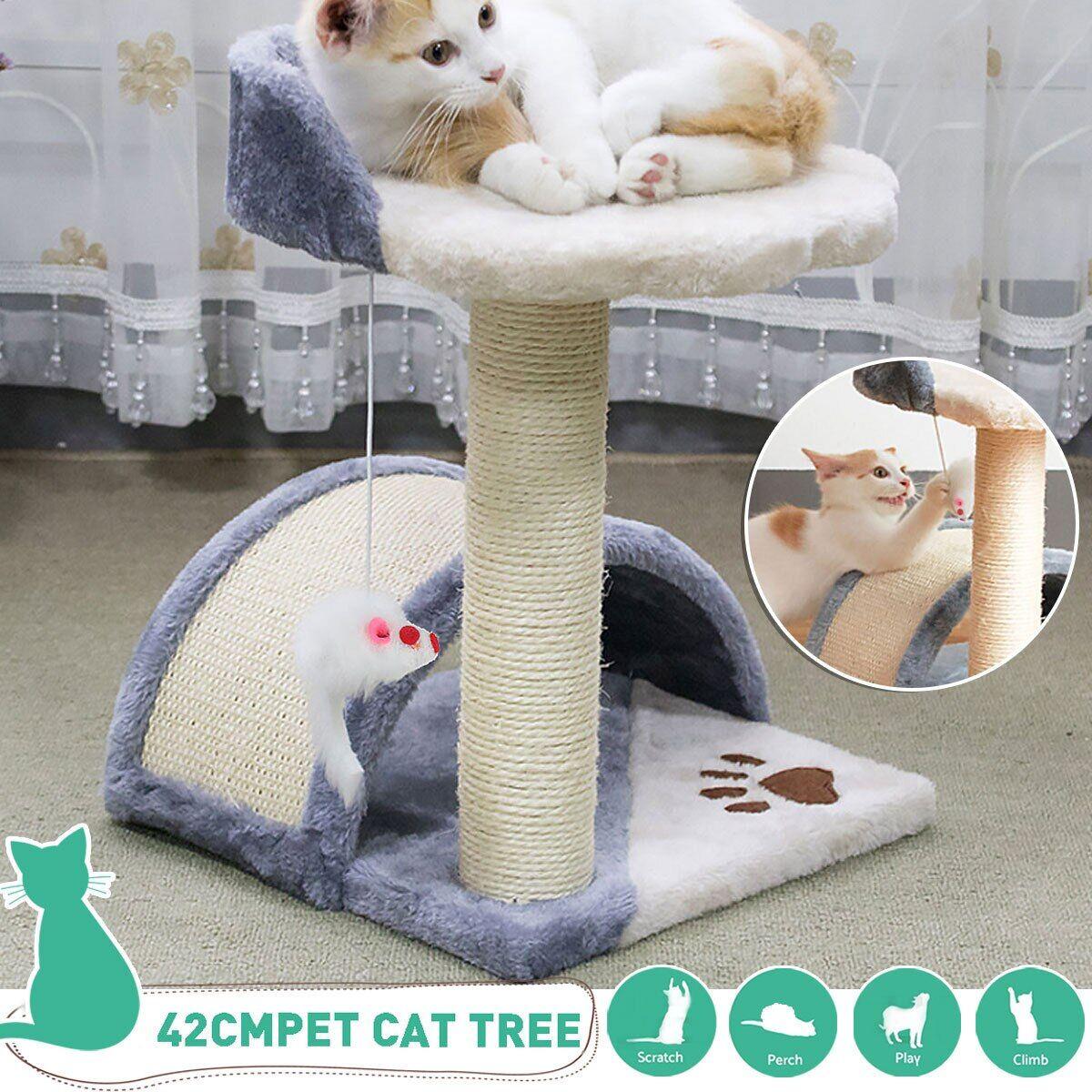 AliExpress Arbre à chat H42cm, jouet à gratter en Sisal pour animaux de compagnie, mobilier d'escalade, jouets