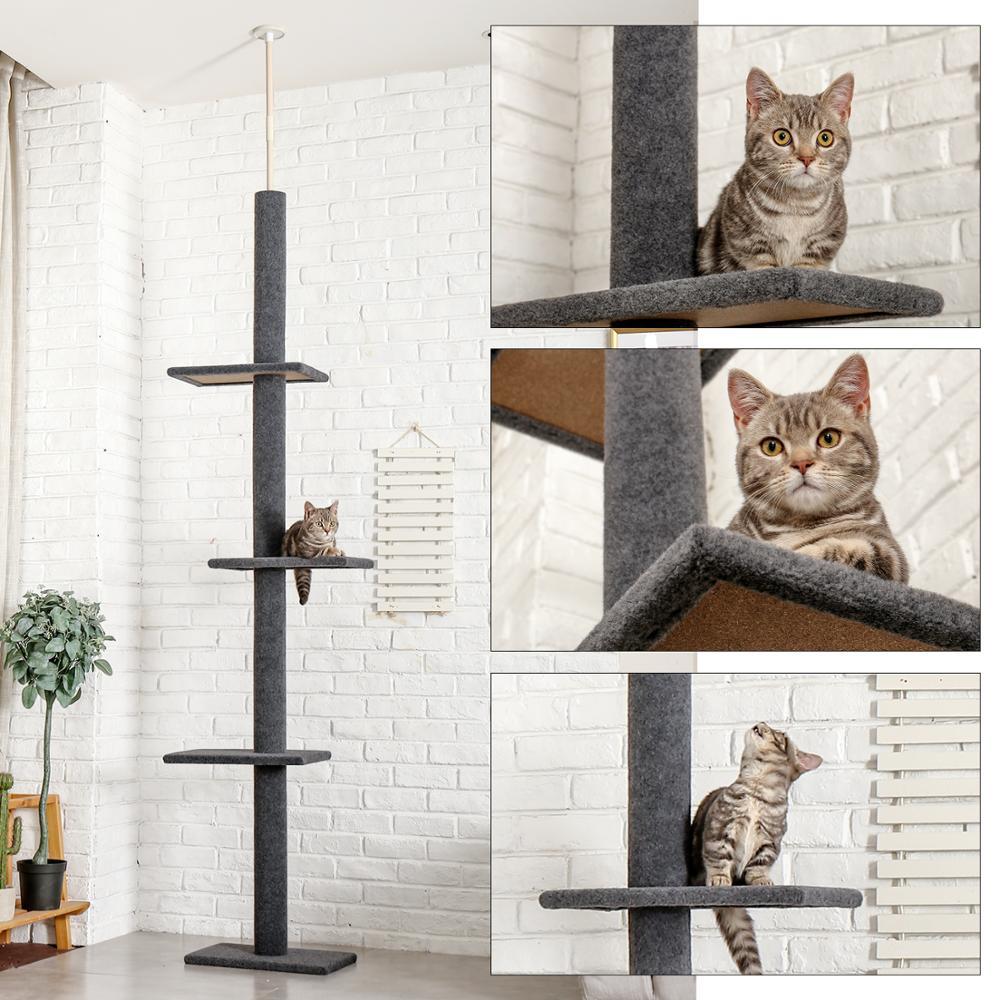 AliExpress Cadre d'escalade réglable pour chat, 228 ~ 274cm, meuble de luxe en bois massif, arbre de saut,