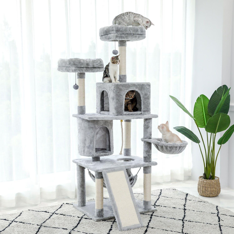 AliExpress Arbre à chat à gratter, poste amusant, centre d'activité réglable 236 ~ 286cm, meubles de maison