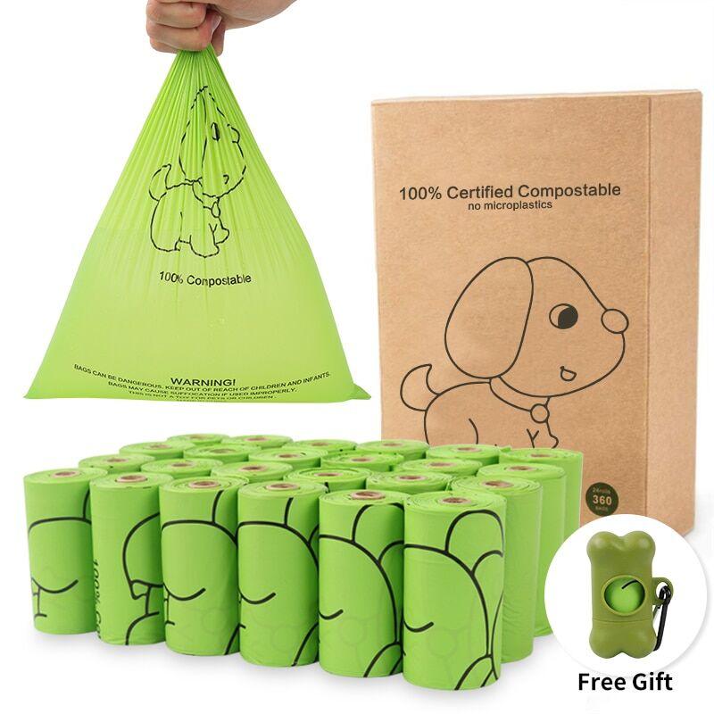 AliExpress Sacs à excréments biodégradables pour chiens, 24 rouleaux, amidon de maïs, sac de déchets
