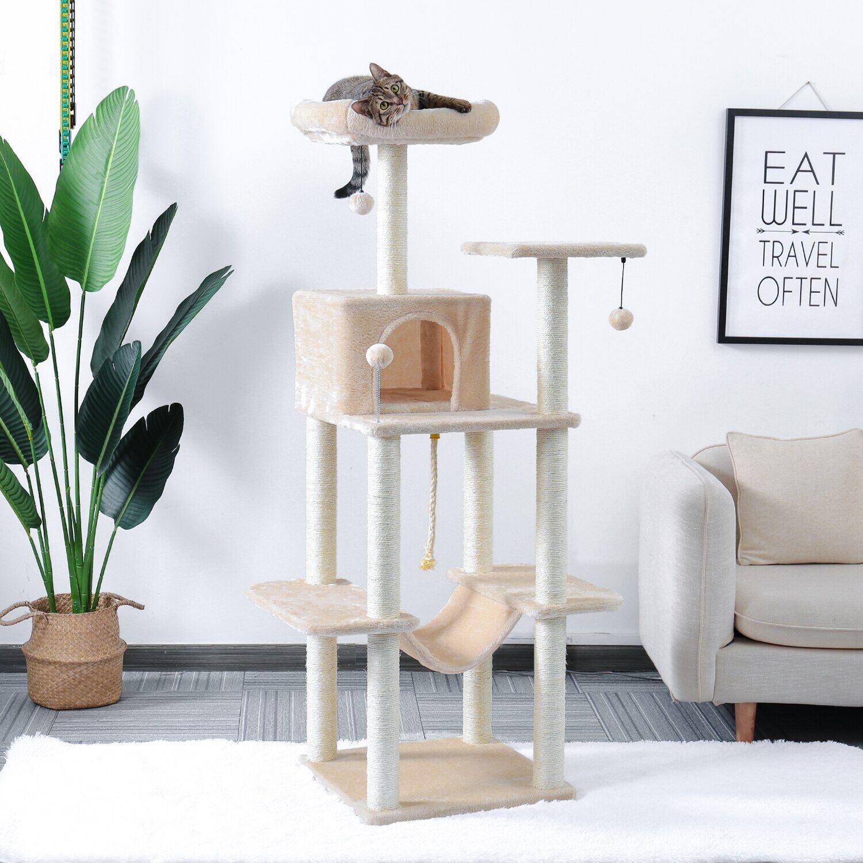 AliExpress Tour de meuble pour arbre à chat, activité d'escalade, maison de jeu pour animaux de compagnie