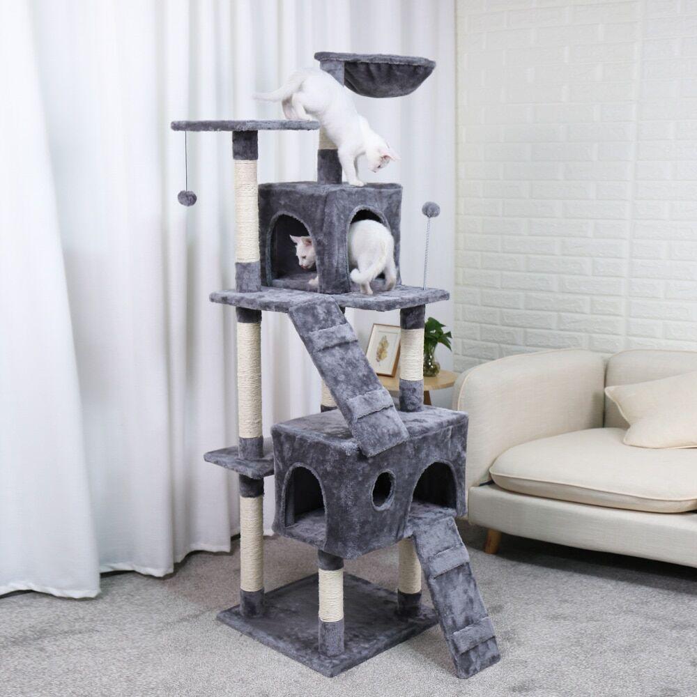 AliExpress Arbre pour animaux domestiques, maison avec boule suspendue, jouets pour chats, meubles à gratter en