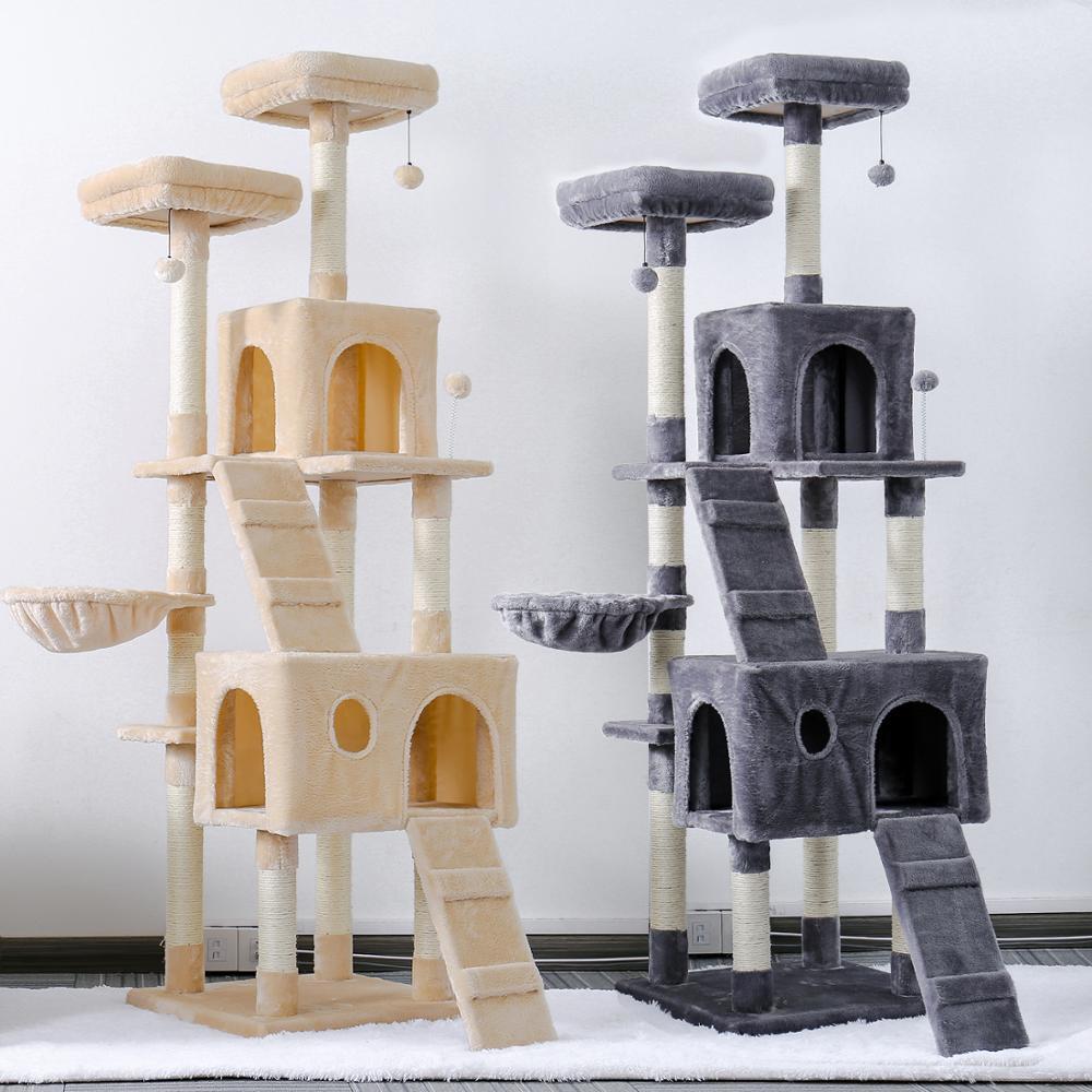 AliExpress Arbre à chat jouet, maison d'escalade, jouet pour chat, maison de jeu, meuble de Condo, cadre