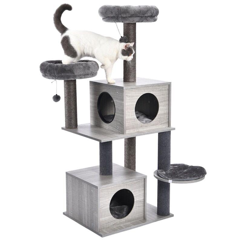 AliExpress Arbre à chat, livraison nationale, maison, poste à gratter pour chat chaton, tour à plusieurs