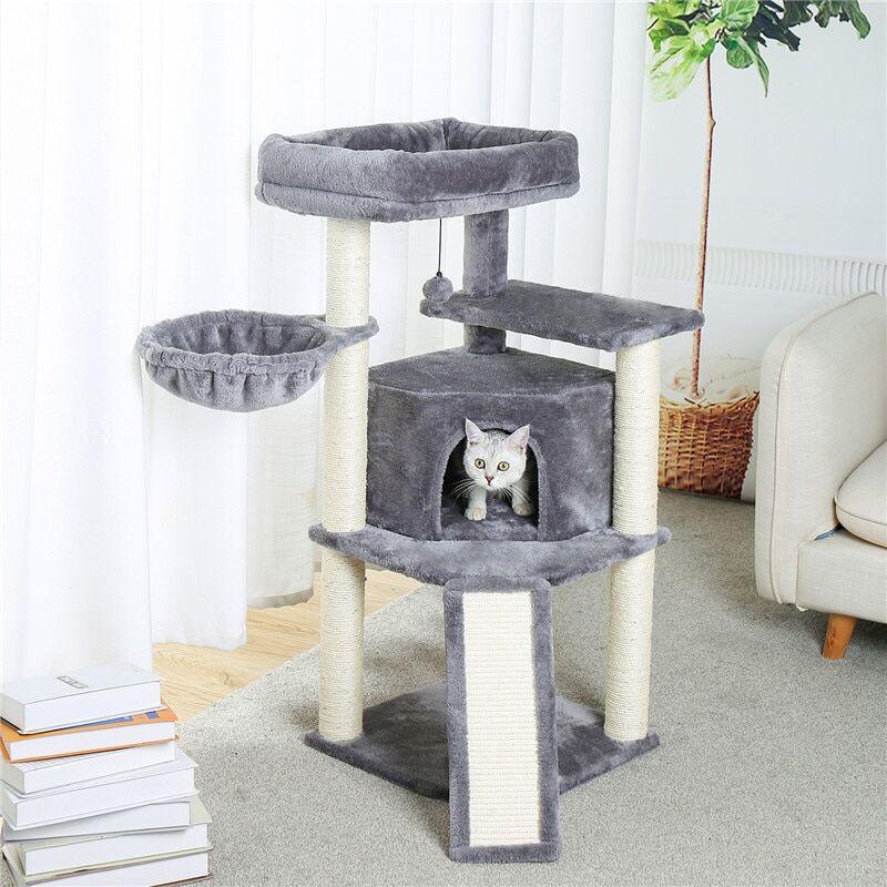 AliExpress Arbre à chat à plusieurs niveaux avec poteaux à gratter tour d'activité des chatons meubles de