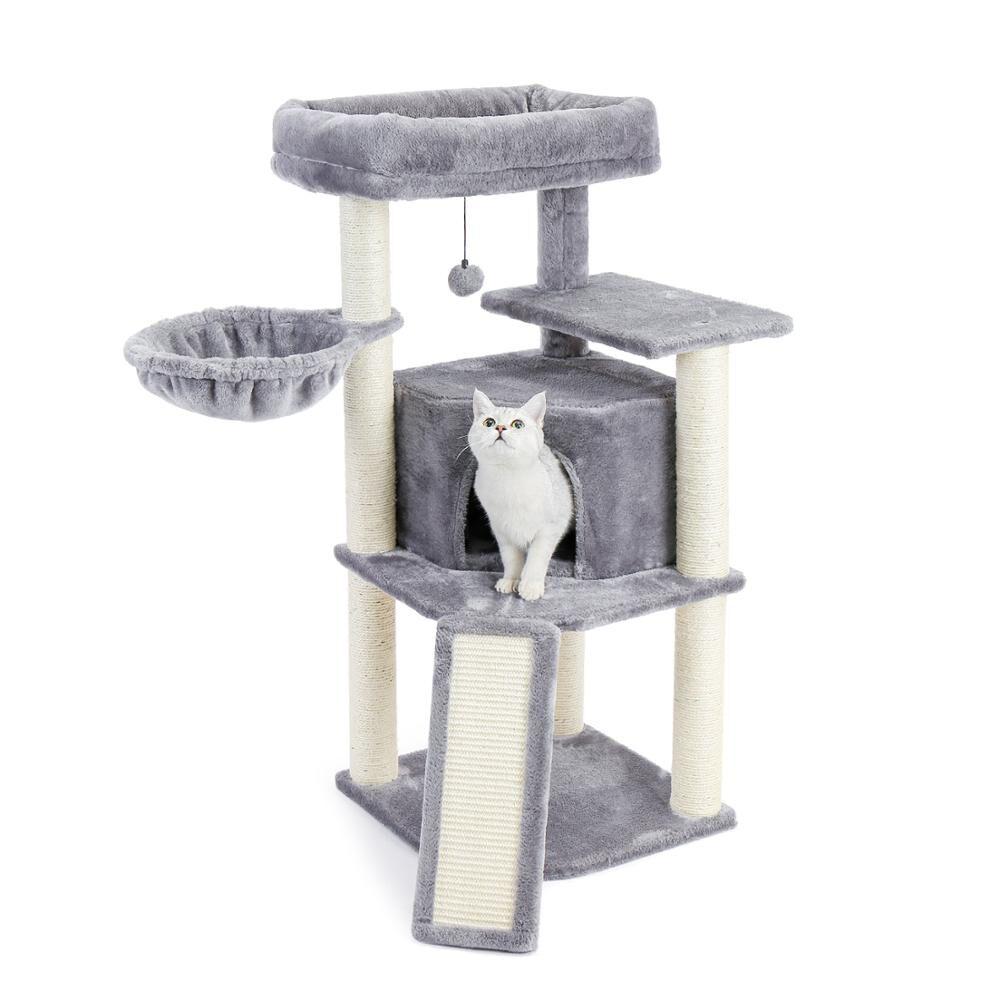 AliExpress Arbre d'escalade pour animaux de compagnie et chats, tour à chat avec poste à gratter, lit hamac à