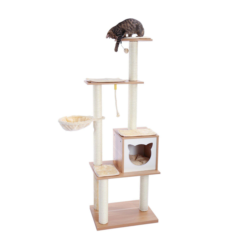 AliExpress Arbre à chat de luxe, perchoir spacieux, poste à gratter en Sisal et remplacement, livraison