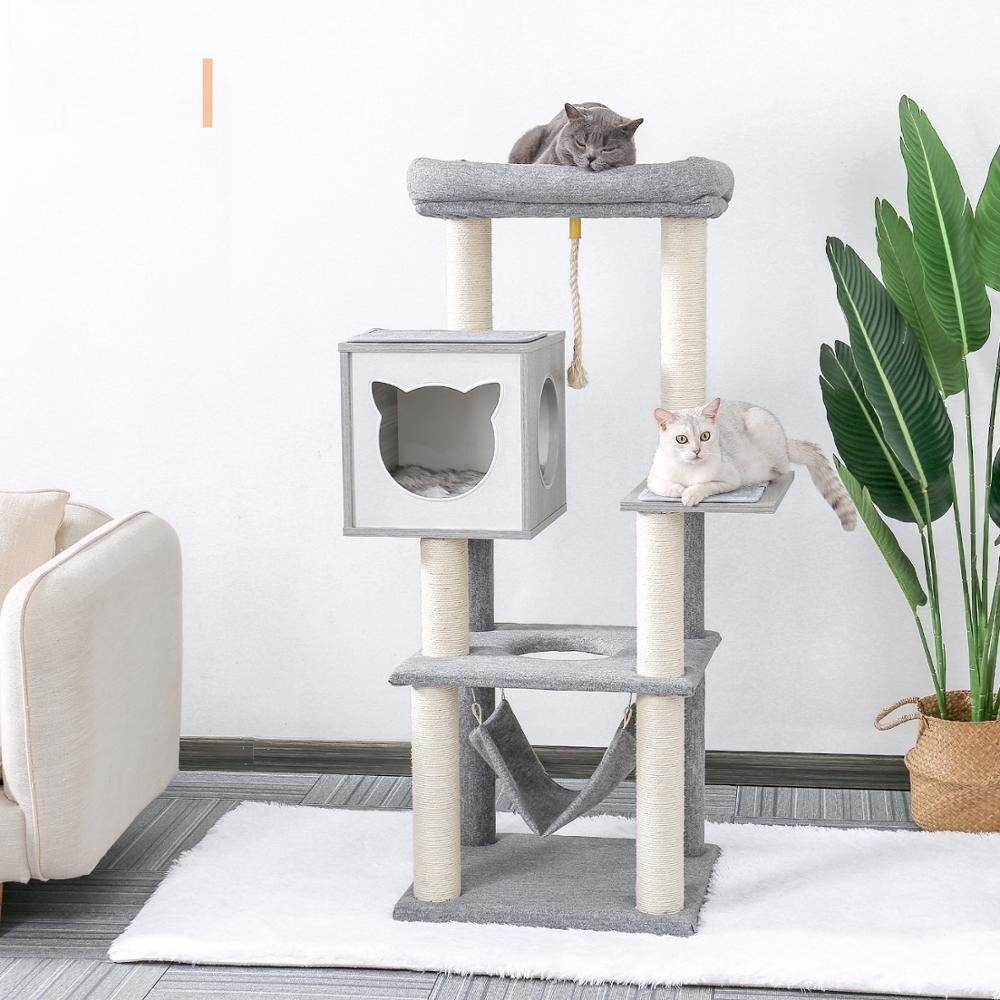 AliExpress Jouet pour chat en bois à gratter, livraison nationale, arbre d'escalade, souris, jouet de saut,