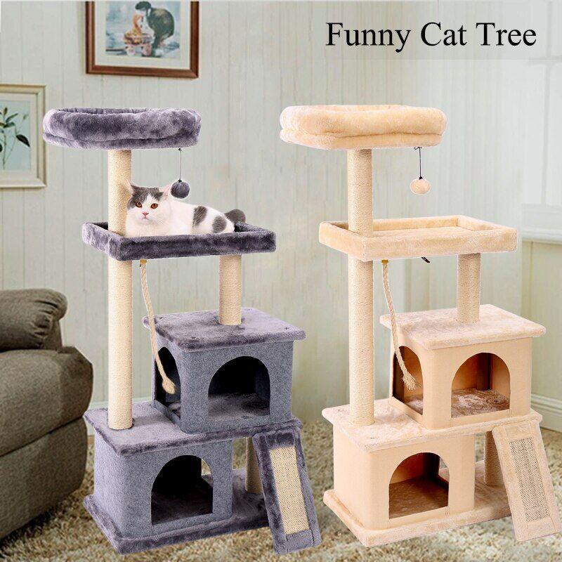 AliExpress Arbre à chat chaud à plusieurs niveaux et tours à chat de luxe de 50 pouces avec 2 perchoirs