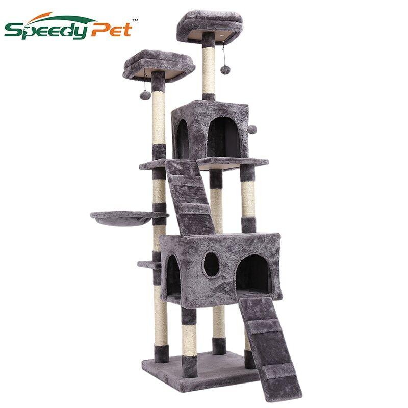 AliExpress Arbre à plusieurs niveaux pour grands chats, 180CM, avec perchoirs confortables, cadre d'escalade