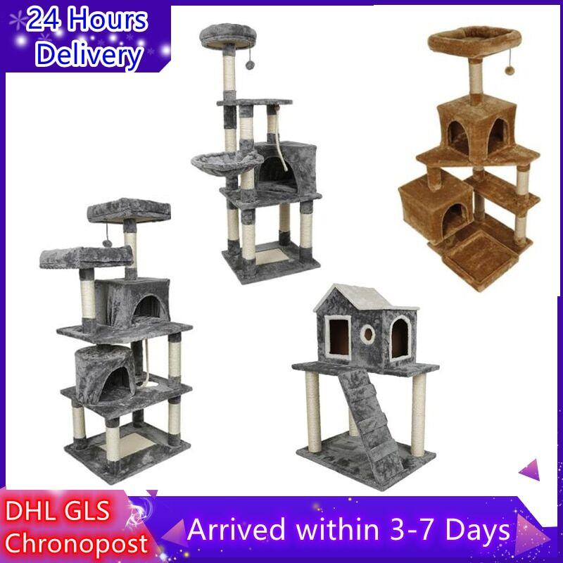 AliExpress Arbre à chat à plusieurs niveaux, meuble de jeu, tour pour chats, niche confortable, HWC