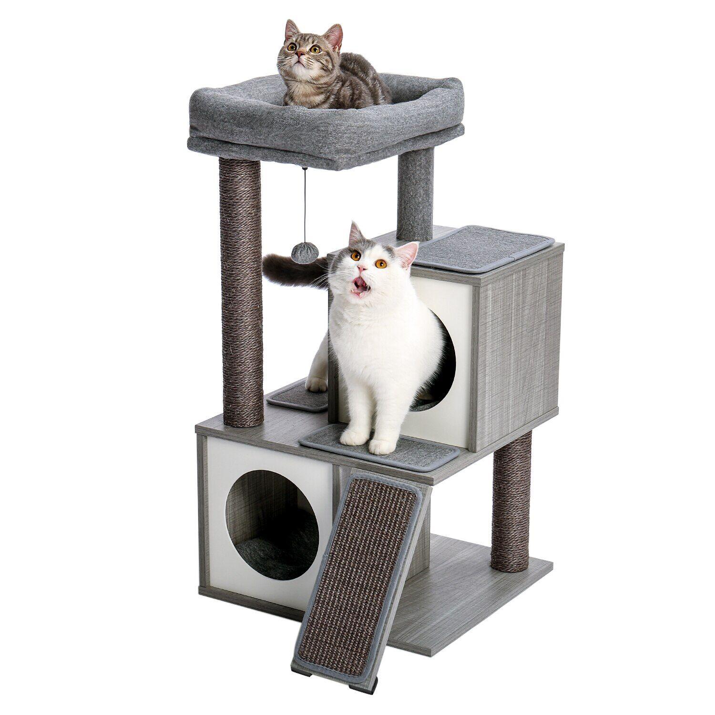 AliExpress Tour d'arbre à chat moderne avec poteaux à gratter recouverts de Sisal, grand espace et grande