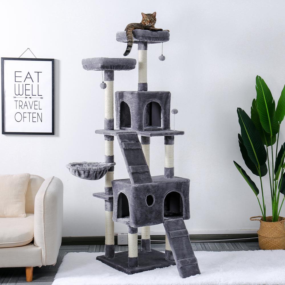 AliExpress Arbre à chat pour animaux de compagnie, plusieurs niveaux, candos-maison en Sisal naturel doux,