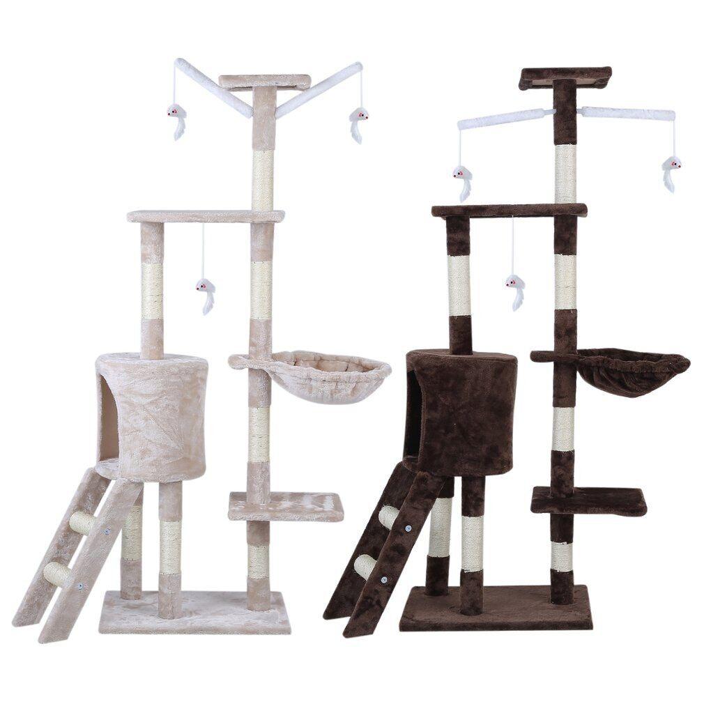 AliExpress Tour d'arbre à chat de 143cm, livraison rapide, maison, poste à gratter, jouet pour chat chaton,