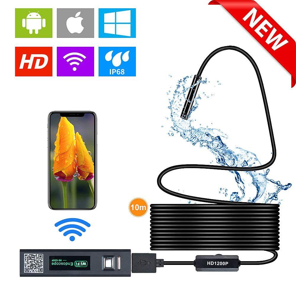 AliExpress Caméra endoscope WIFI 1200P HD, longeur de 1 m, 2 m, 3,5 m, 5 m ou 10 m, mini caméra, rigide,