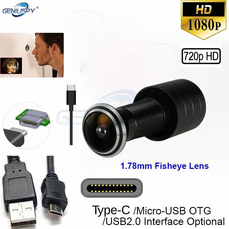 AliExpress Caméra de Surveillance oeil de chat, Micro USB 1.78mm, lentille grand Angle OTG Type C, Mini Fisheye