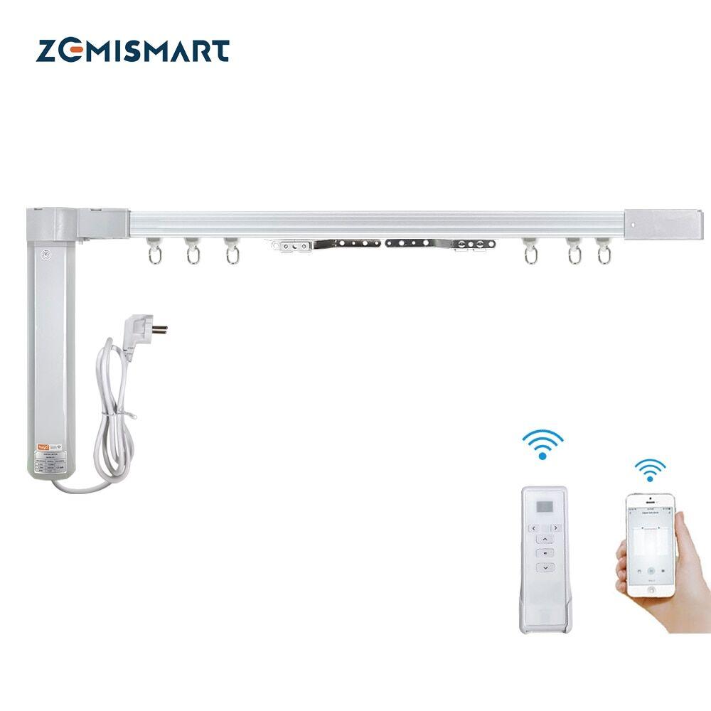 AliExpress Zemismart – rideau électrique personnalisé, nouveau Design, moteur WiFi, Tuya Smart Life, piste avec
