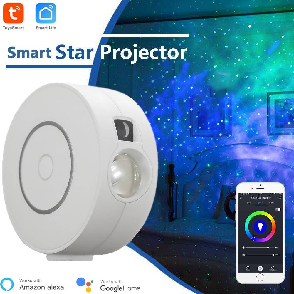 AliExpress Projecteur d'étoiles intelligent Tuya, WiFi, Laser, ciel étoilé, ondulation, application colorée,