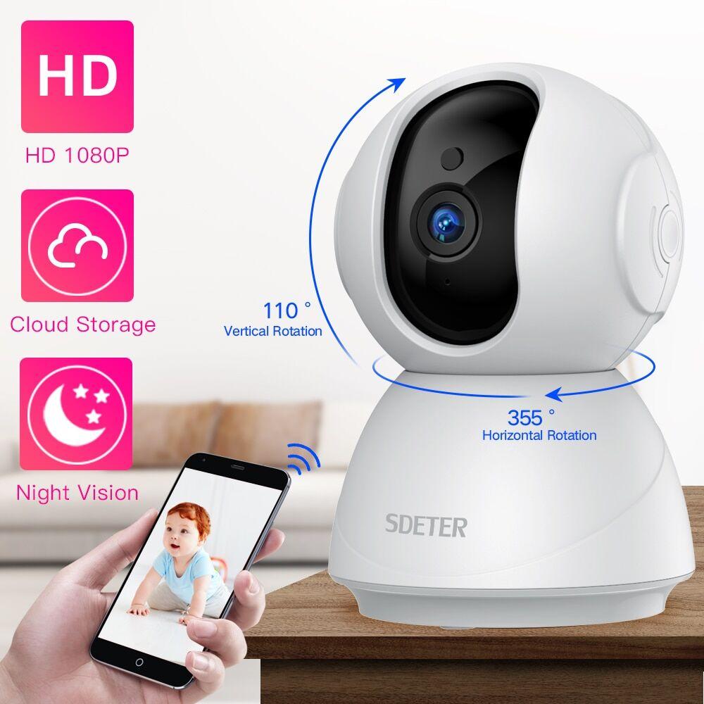 AliExpress SDETER – caméra de sécurité WiFi sans fil, moniteur caméra pour bébé et animaux de compagnie,