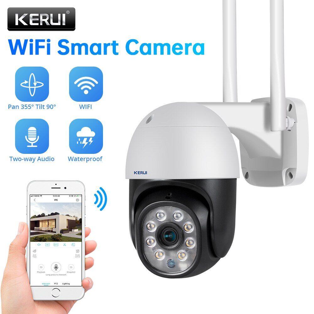 AliExpress KERUI HD 1080P Wifi IP caméra sécurité à domicile extérieur PTZ caméras de Surveillance couleur