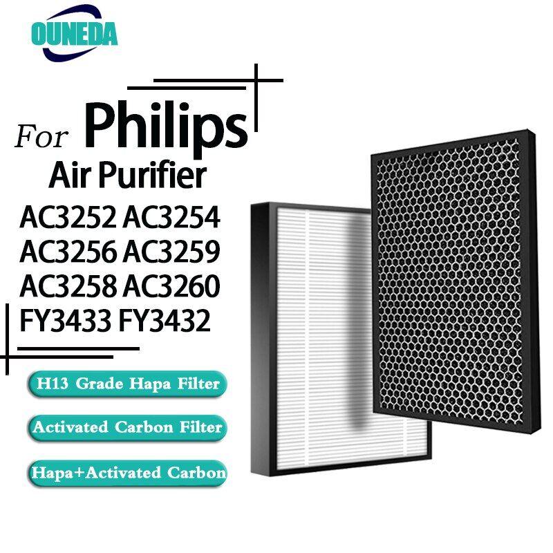 AliExpress Filtre à Air HEPA FY3433 filtres à charbon actif FY3432 de remplacement Philips AC3252 AC3254 AC3256