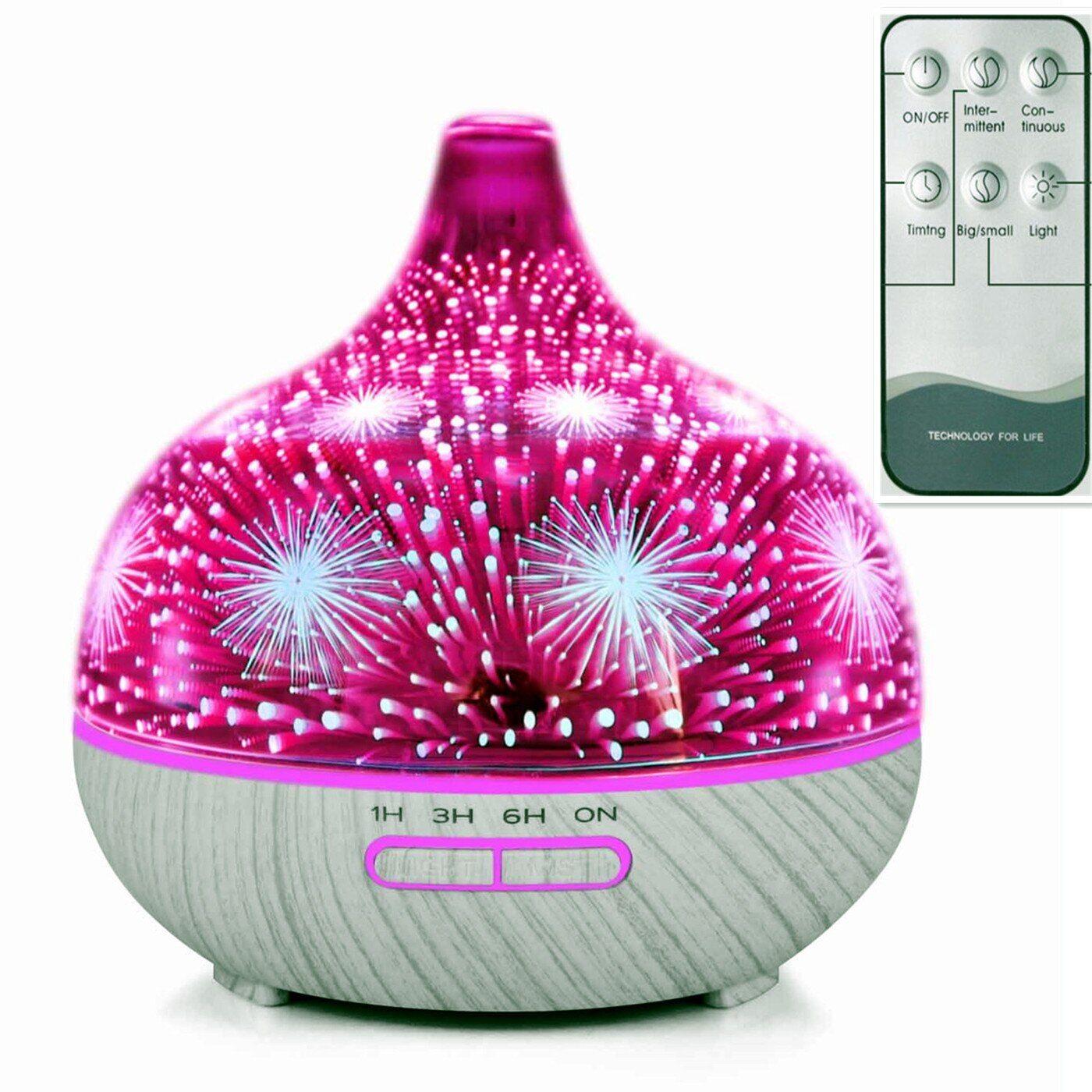 AliExpress Humidificateur ultrasonique avec télécommande, feux d'artifice 3D, diffuseur d'huile essentielle